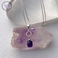 Faceted Amethyst Silver Necklace